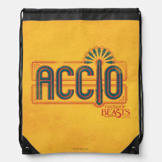 Red Art Deco Accio Spell Graphic Drawstring Bag