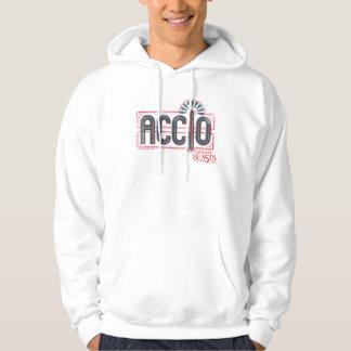 Red Art Deco Accio Spell Graphic Hoodie