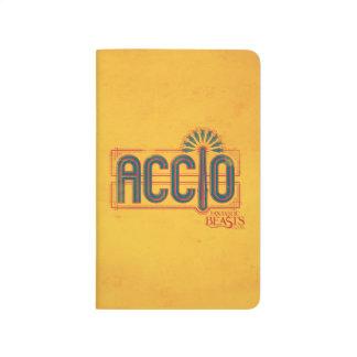 Red Art Deco Accio Spell Graphic Journal