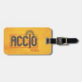 Red Art Deco Accio Spell Graphic Luggage Tag