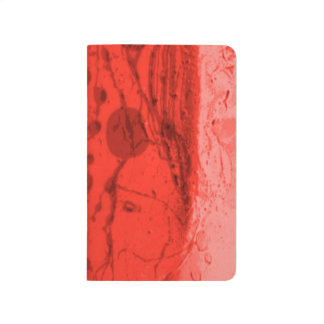Red Artistic Abstract Lined Pocket Journal
