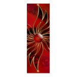 Red As the Flame Bookmarks Pack Of Skinny Business Cards