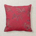 Red Asian Inpired Pillow Cushion