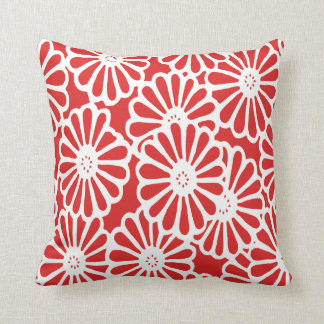 Red Asian Moods Floral Cushion
