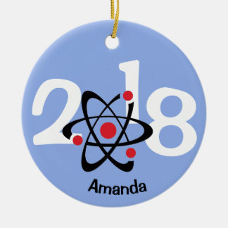 Red Atom 2018 Ornament