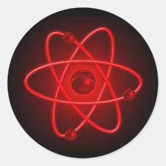 Red Atom Classic Round Sticker