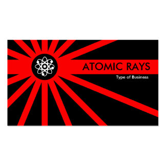 Red Atomic Rays Pack Of Standard Business Cards