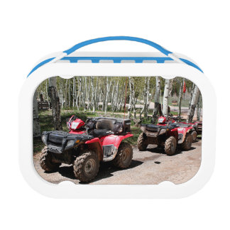 Red ATVs (All Terrain Vehicles) Lunch Box
