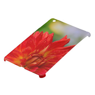 Red autumn dahlia flower in the garden iPad mini case