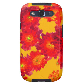 Red Autumn Fall Mums gifts by Sharles Galaxy S3 Cover