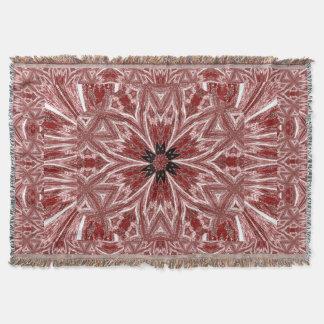 Red Autumn Flower Throw Blanket