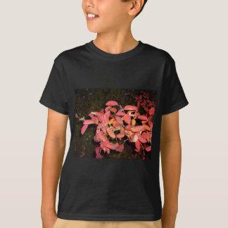 RED AUTUMN LEAVES BRANCH DARK T-Shirt