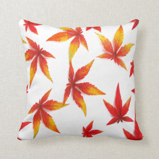 Red Autumn Leaves Cushion