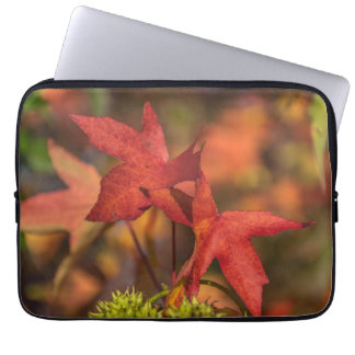 Red autumn leaves laptop sleeve