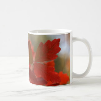 Red Autumn Leaves Mug
