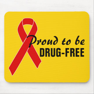Red Awareness Ribbon + your message Mouse Pad