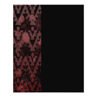 Red Aztec 11.5 Cm X 14 Cm Flyer
