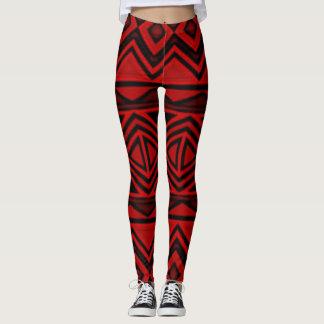 Red Aztec Leggings