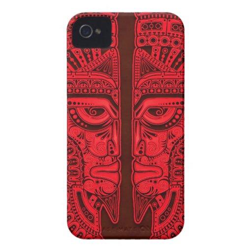 Red Aztec Twins Case-Mate Blackberry Case
