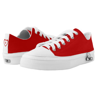 Red B & Red Heart + Low Top Shoes