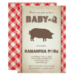 Red BabyQ Baby Shower, BBQ Baby Q Invite