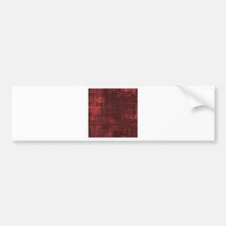 red background bumper sticker