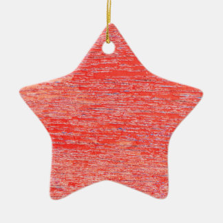 Red background ceramic star decoration