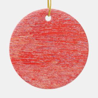 Red background round ceramic decoration