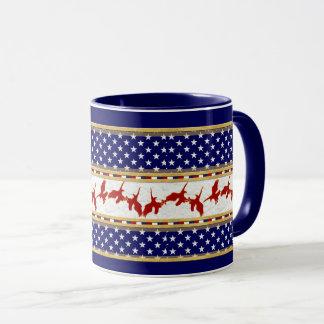 Red Bad Eagle American Stars Blue Mug
