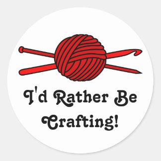 Red Ball of Yarn (Knit & Crochet) Stickers