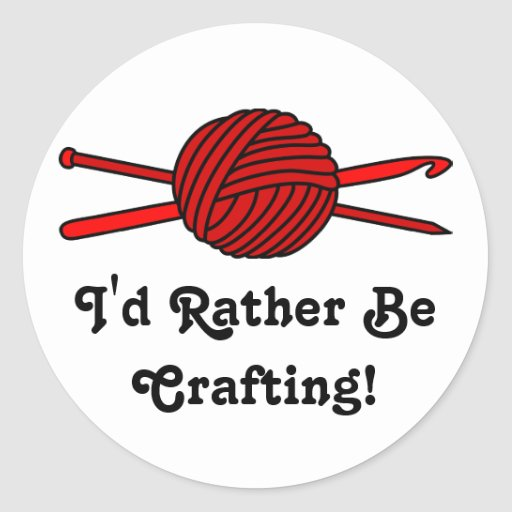 Red Ball of Yarn (Knit & Crochet) Stickers