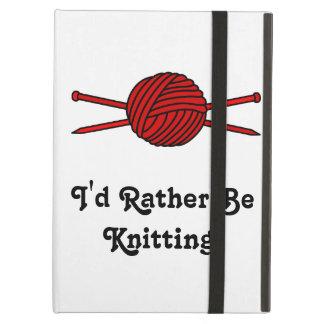 Red Ball of Yarn & Knitting Needles iPad Case