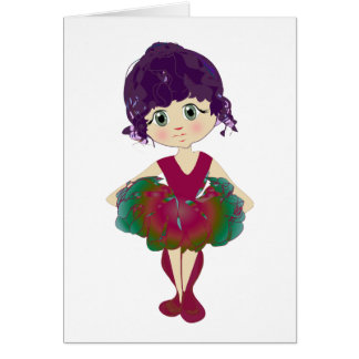 Red Ballet Shoes, Cute Ballerina Art Card