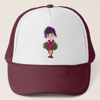 Red Ballet Shoes, Cute Ballerina Art Trucker Hat