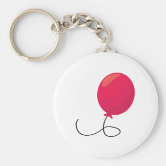 Red Balloon Basic Round Button Key Ring