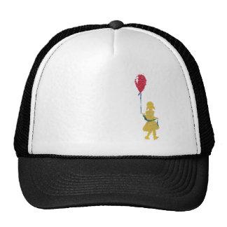 red balloon. mesh hats