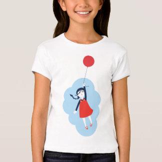 Red Balloon Lifting a Little Girl T-shirt