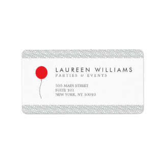 Red Balloon Logo Address Labels
