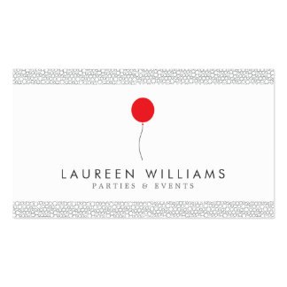 Red Balloon Logo for Event Planner, Party Planner Pack Of Standard Business Cards