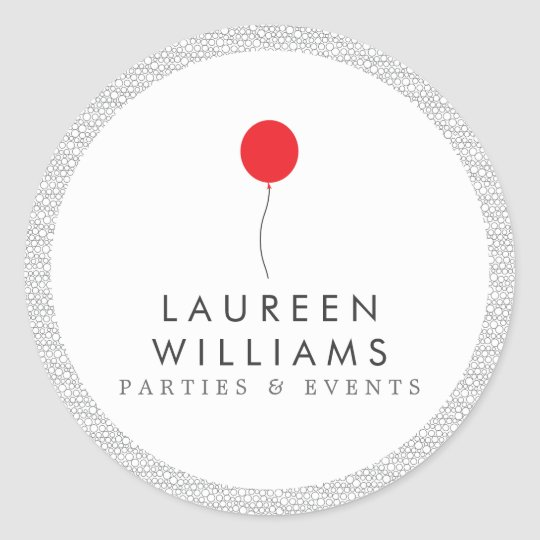Red Balloon Logo Personalised Round Stickers