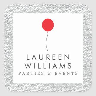 Red Balloon Logo Personalized Stickers