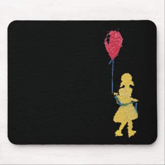 red balloon. mouse mat
