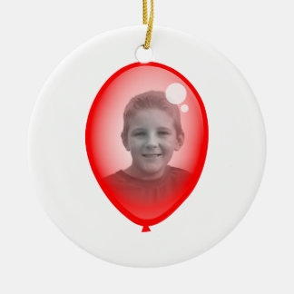 Red Balloon Template Christmas Ornament