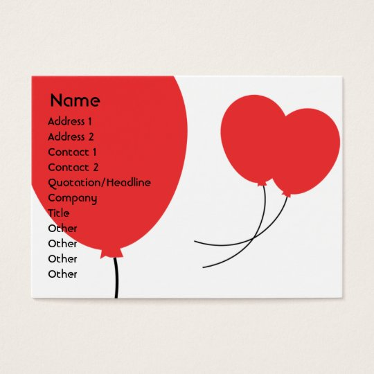 Red Balloons - Chubby Business Card