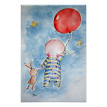 Red Baloon Poster