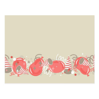 red baloons party postcards