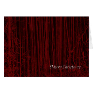 Red Bamboo Christmas Card