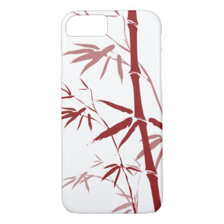 Red Bamboo iPhone 7 Case