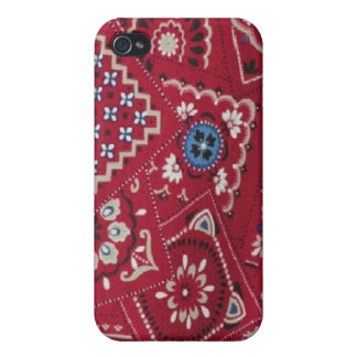 Red Bandana Hard Shell Case for iPhone 4