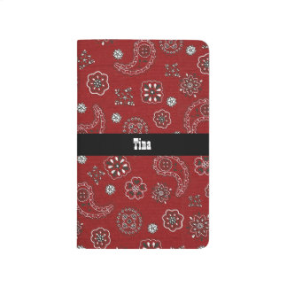 Red Bandana Pattern Journal
